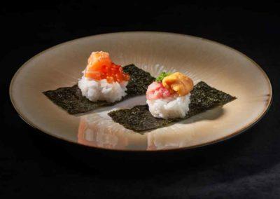 Ikura Salmon, Uni & Chutoro Rice Balls, by Nomiya